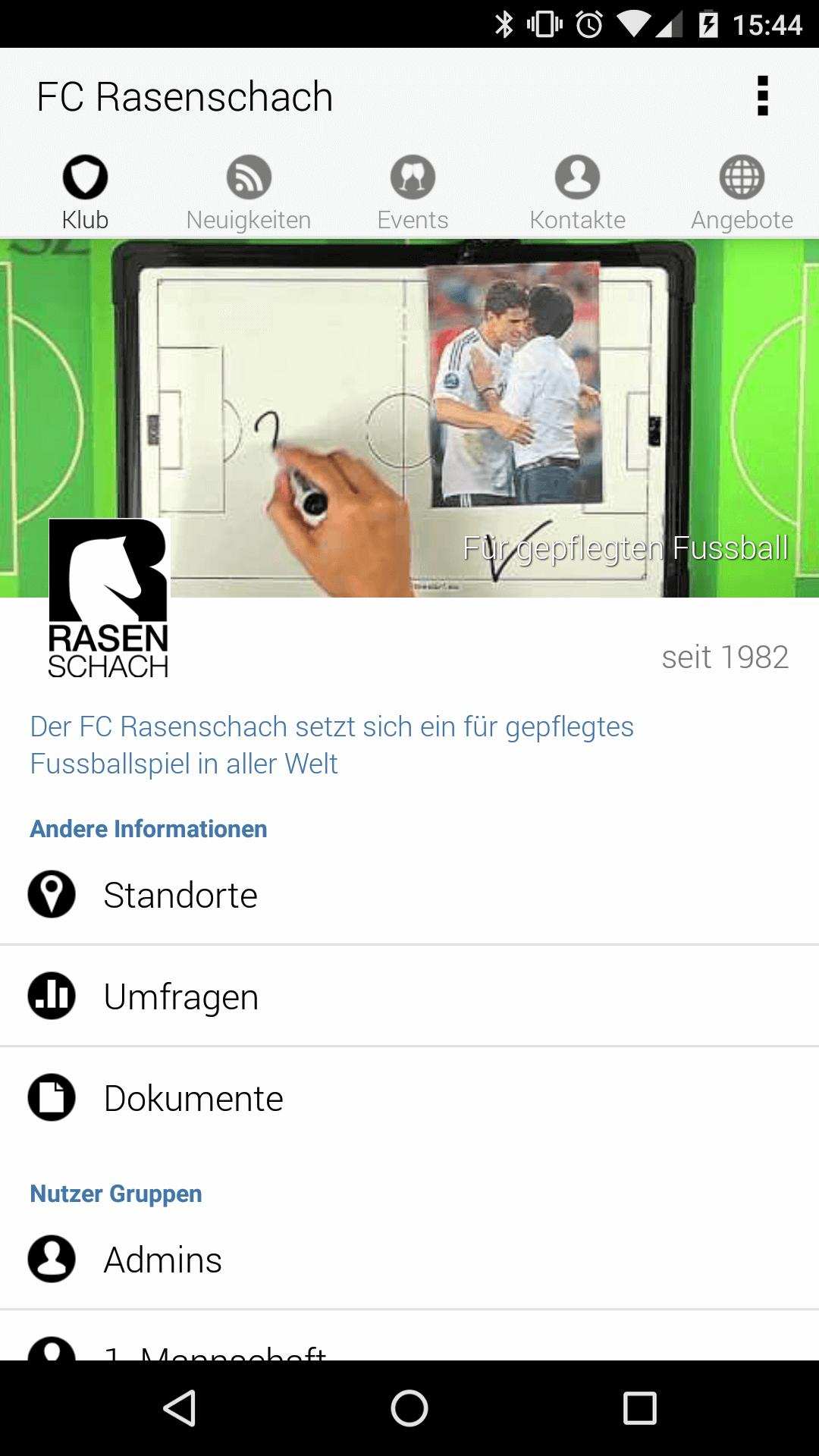 Club App Screenshot