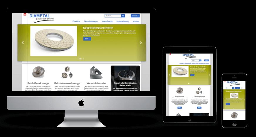 Responsive Webseite Diametal