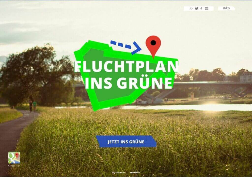 Fluchtplan ins Grüne