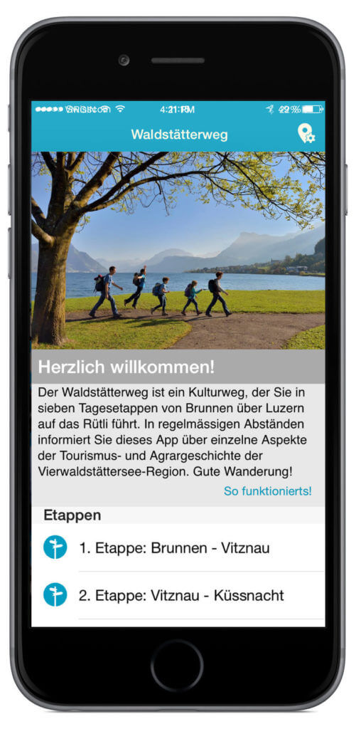 Waldstätterweg App Screenshot