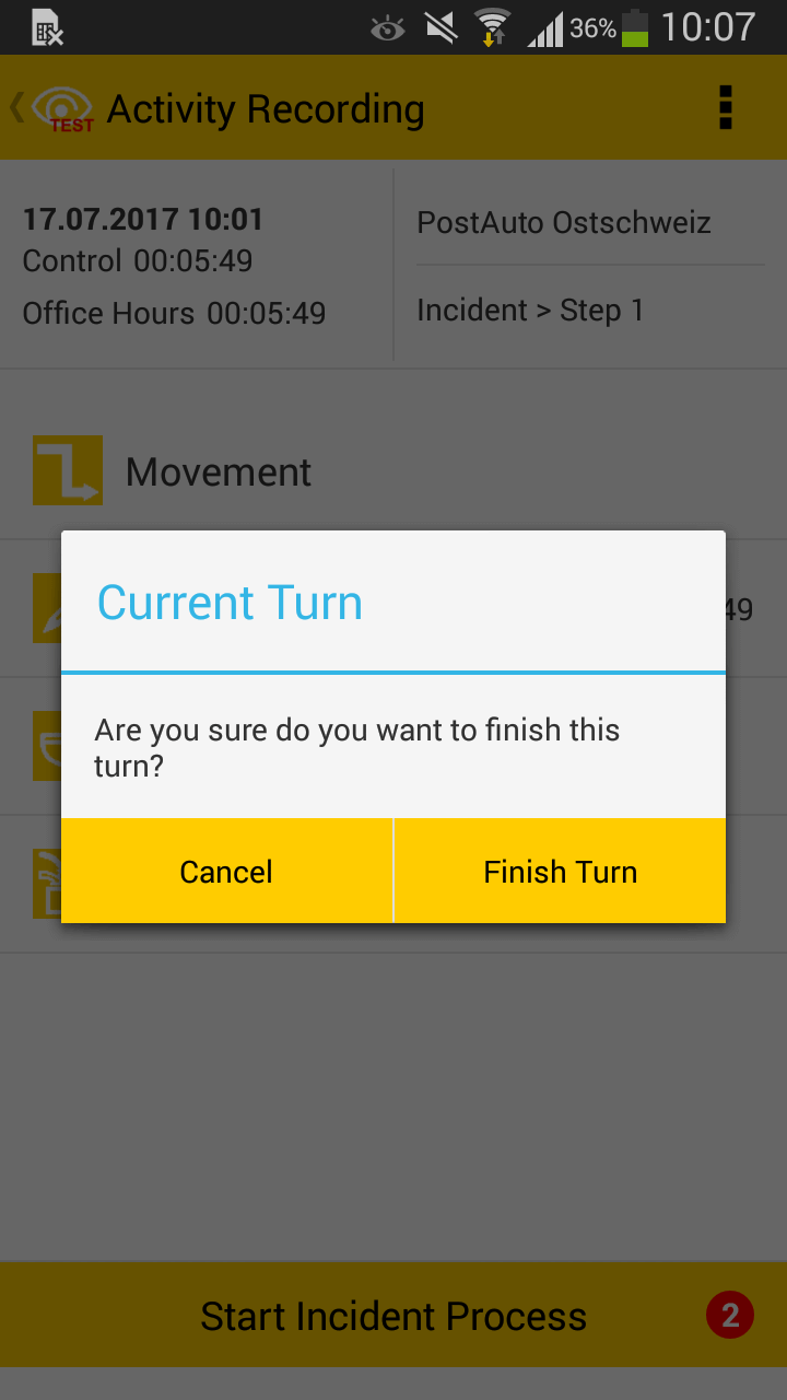 10 - Finish turn dialog