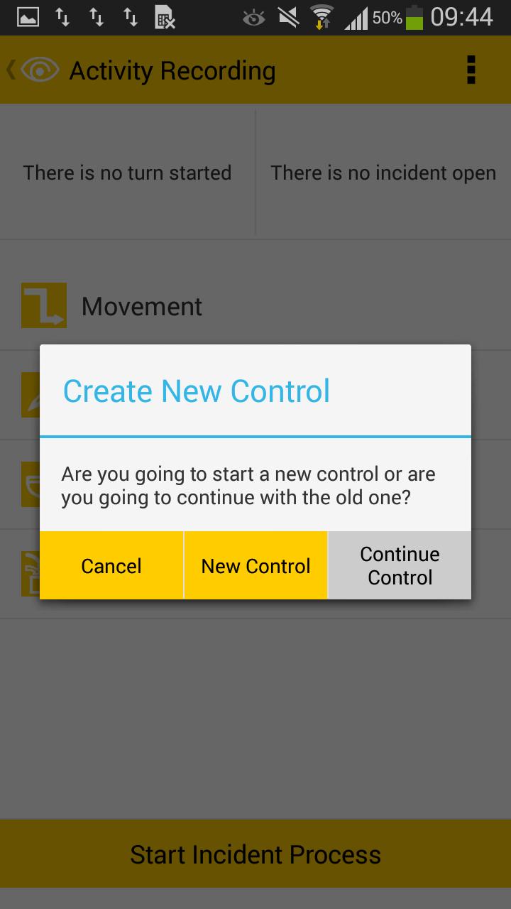 5 - Start Kontrolle