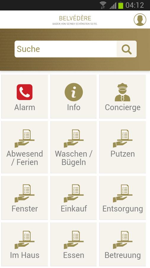 Screenshot App Belvédère