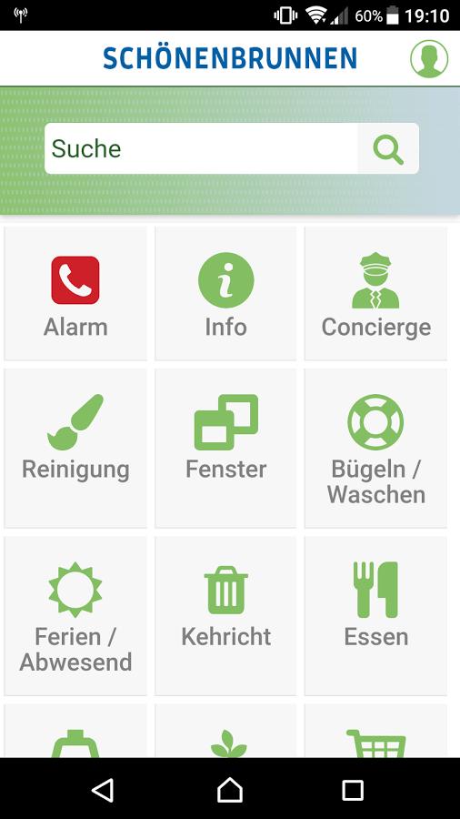 Screenshot App Schönenbrunnen