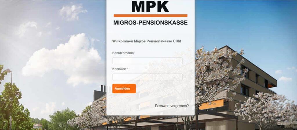 Screenshot CRM MPK
