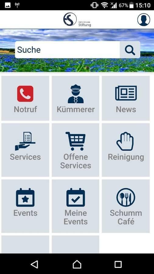 Screenshot App Erich Schumm Stiftung