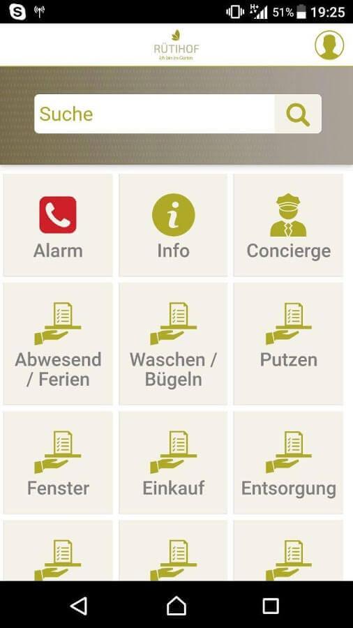 Screenshot App Rütihof
