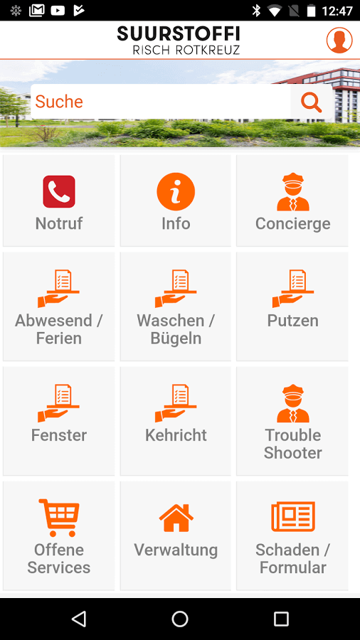 Screenshot App Suurstoffi
