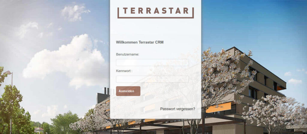 Screenshot CRM Terrastar