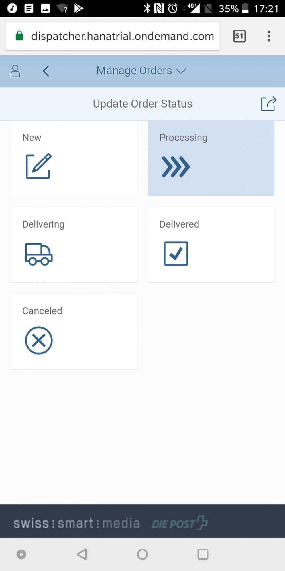 Lieferanten Interface