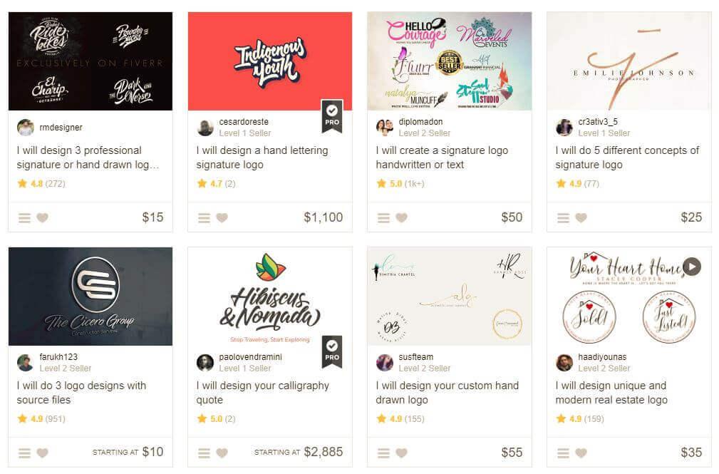 Fiverr: Logo-Design zum Discounter-Preis